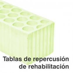 Tablas de repercusión de rehabilitación (PDF)