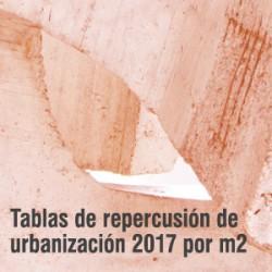 Tablas de repercusión de urbanización (PDF)