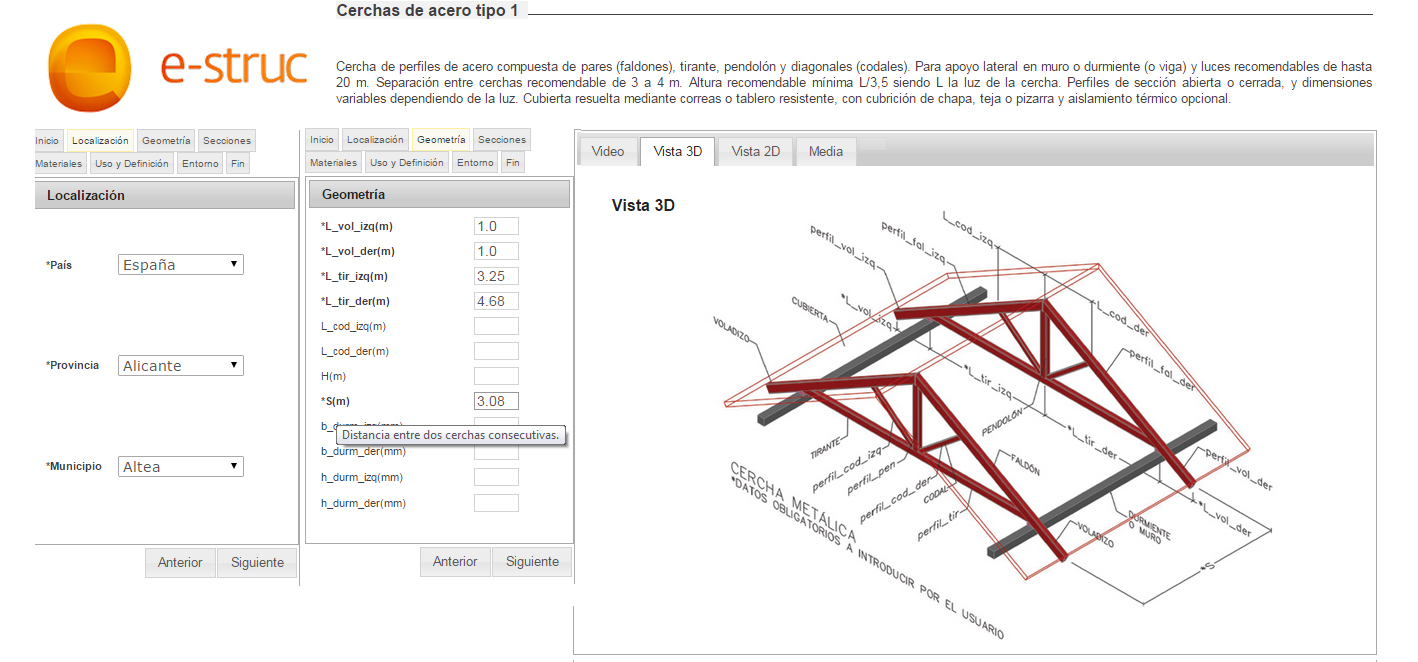 aplicación e-struc